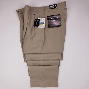 Alan Flusser Golf Pants 38x34 Beige Double Pleated